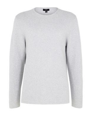 Picture of NNT Uniforms-CATE38-GRY-Long Sleeve Knit Jumper