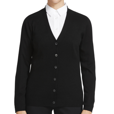 Picture of NNT Uniforms-CAT5BR-BLK-Button front cardigan
