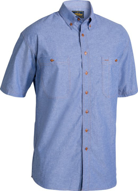 Picture of Bisley Workwear-B71407-Chambray Shirt Short Sleeve