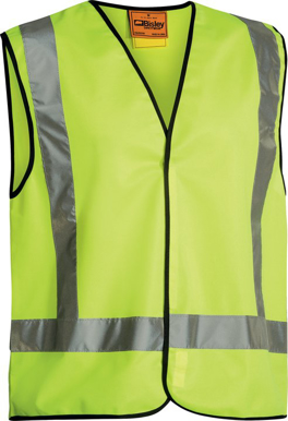 Picture of Bisley Workwear-BT0347-Hi Vis Vest X Back Tape