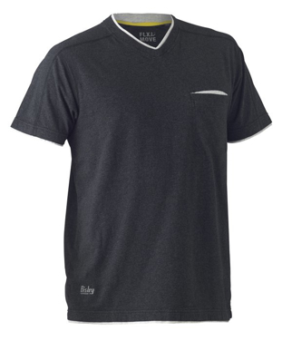 Picture of Bisley Workwear-BK1933-Flex & Move™ Cotton V Neck Tee Short Sleeve