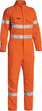 Picture of Bisley Workwear-BC8185T-Tencate Tecasafe® Plus 580 Taped Hi Vis Light- Weight Fr Non Vented Engineered Coverall