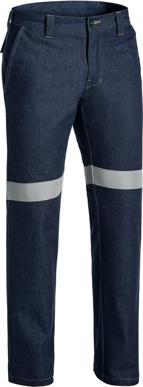 Picture of Bisley Workwear-BP8091T-Taped Fr Denim Jean