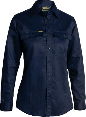 Picture of Bisley Workwear-BL6339-Womens Drill Shirt - Long Sleeve