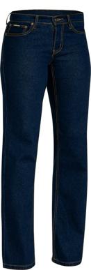 Picture of Bisley Workwear-BPL6712-Womens Rough Rider Denim Stretch Jean