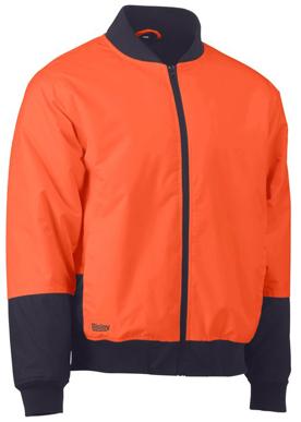 Picture of Bisley Workwear-BJ6730-Two Tone Hi Vis Bomber Jacket