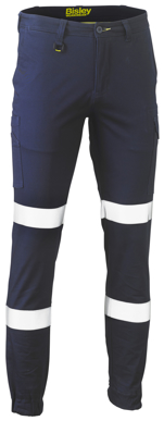 Picture of Bisley Workwear-BPC6028T-Taped Biomotion Stretch Cotton Drill Cargo Pants