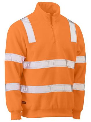 Picture of Bisley Workwear-BK6816T-Taped Hi Vis Rail Polar Fleece Jumper