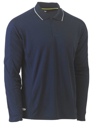 Picture of Bisley Workwear-BK6425-Cool Mesh Polo Shirt Long Sleeve