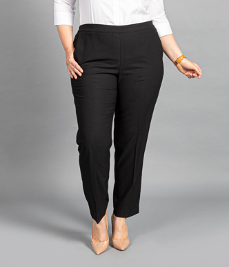 Picture of Gloweave-1730WT-WOMEN'S PULL ON PANT - ELLIOT WASHABLE SUITING
