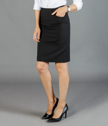 Picture of Gloweave-1724WSK-WOMEN'S PENCIL SKIRT - ELLIOT WASHABLE SUITING
