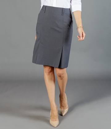 Picture of Gloweave-1766WSK-WOMEN'S BOX PLEAT SKIRT - ELLIOT WASHABLE SUITING