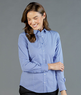 Picture of Gloweave-1637WL-WOMEN'S GINGHAM LONG SLEEVE SHIRT -WESTGARTH