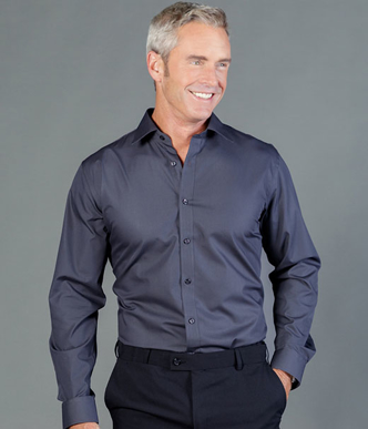 Picture of Gloweave-1520L-MEN'S PREMIUM POPLIN SLIM FIT LONG SLEEVE SHIRT-NICHOLSON