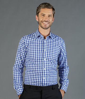 Picture of Gloweave-1710L-MEN'S OXFORD CHECK LONG SLEEVE SHIRT - DEGREAVES