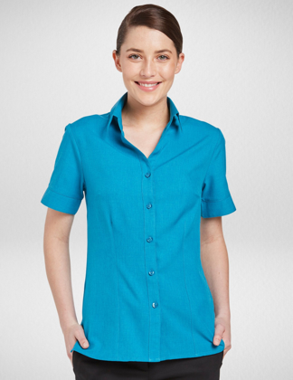 Picture of Corporate Reflection-6301S19-Climate Smart Ladies Semi Fit Short Sleeve shirt