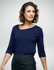 Picture of Corporate Reflection-6802Q89-Aries Ladies Loose Fit 3/4 Sleeve blouse