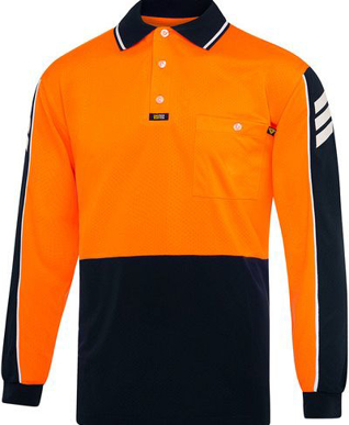 Picture of Visitec-V2031-L/S Airwear Arrow Polo
