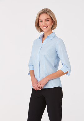 Picture of City Collection-2144-Shadow Stripe 3/4 Sleeve Shirt