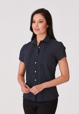 Picture of City Collection-2173-City Stretch® Spot Cap Sleeve Shirt