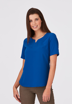 Picture of City Collection-2299-The 'Knit / Woven Short Sleeve