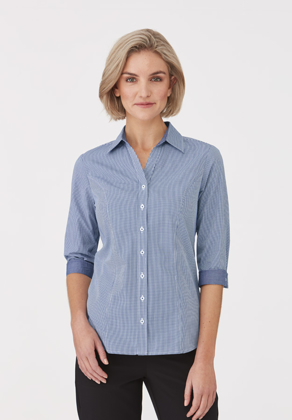 Picture of City Collection-2444-Pippa Check 3/4 Sleeve Shirt