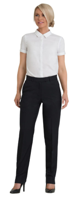 Picture of Corporate Comfort-FPA22-4060-Wool Blend Ladies Flexi Waist Classic Pant
