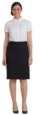 Picture of Corporate Comfort-FSK45-4060-Wool Blend Ladies Knee Length Front Pocket Skirt