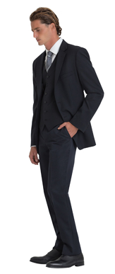 Picture of Corporate Comfort-MTRO-4060-Mens Flexi Waist  Wool Blend Trouser