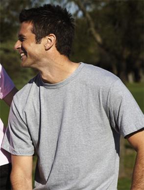 Picture of Bocini-CT881-Unisex Adults Plain Cotton Tee Shirt