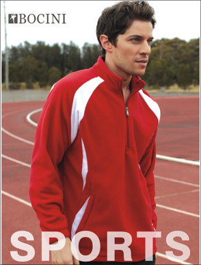 Picture of Bocini-CJ1050-Unisex Adults 1/2 Zip Sports Pull Over Fleece