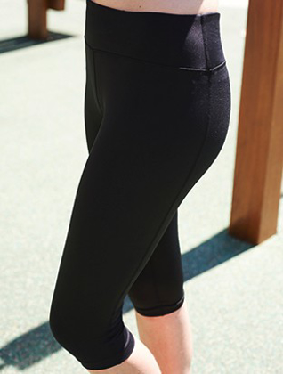 Picture of Bocini-CK1485-Ladies High Waisted 3/4 Length Gym Tight