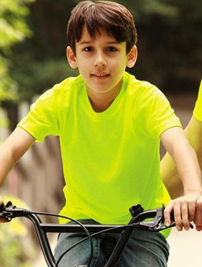 Picture of Bocini-ST1248-Kids Breezeway Plain Round Neck Tee Shirt