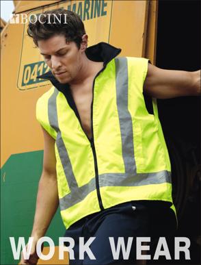 Picture of Bocini-SJ0428-Unisex Adults Hi-Vis Reversible Vest With Reflective tape