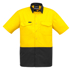 Picture of Syzmik-ZW815-Mens Rugged Cooling Hi Vis Spliced S/S Shirt