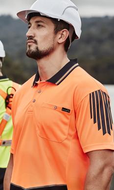 Picture of Syzmik Workwear-ZH315-Mens Hi Vis Flux S/S Polo