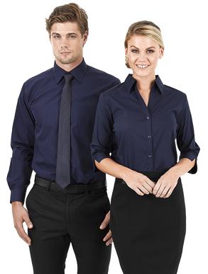 Picture of Identitee-W03(Identitee)-Ladies 3/4 Sleeve Spandex Business Shirt
