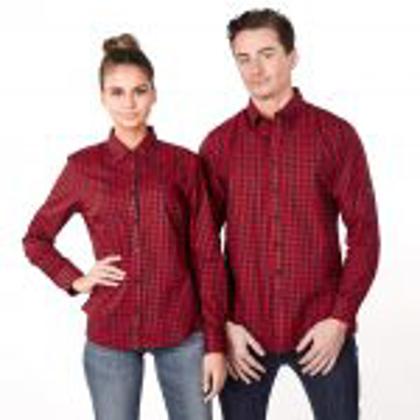Picture of Identitee-W69(Identitee)-Men's Long Sleeve Plaid Check Shirt