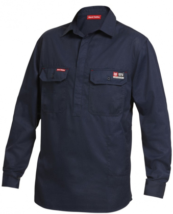 Picture of Hardyakka-Y04250-FIRE RETARDENT CLOSED FRONT SHIRT LONG SLEEVE